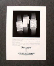 [GCG]  M624 - Advertising Pubblicità -1986- REVERSO DE JAEGER LE COULTRE ,GENEVE