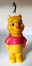 """DISNEY WINNIE THE POOH RUBBER DRINK HOLDER CUP W STRAW 12"""" MID 1980'S"""