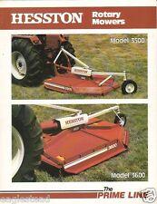 Farm Implement Brochure - Hesston - Rotary Mower Hay Rake - 1980 (F1320)