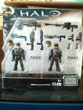 New ListingHalo Mega Bloks Nmpd Police Customizer Pack Micro Action Figures 55pcs Mosc 2015