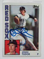 1984 Topps John Tudor Autograph Card Pirates Red Sox Cardinals Dodgers Auto 601