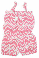 Baby Girls Pink Geometric Romper Outfit for Summer Beach Fashion 12m 2t 3t 4t