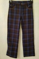Mary Kate And Ashley Girls Blue Brown Plaid Pants Size 8