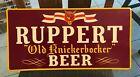 VINTAGE ORIGINAL RUPPERT OLD KNICKERBOCKER BEER METAL - TIN SIGN NEW YORK NY