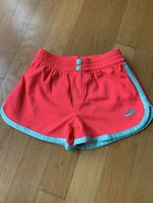 Nike Girls Neon Coral With Mint Gym Shorts Size 4