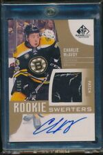 17-18 SP Game Used Rookie Sweaters Inked Patch #RSCM Charlie McAvoy 48/49