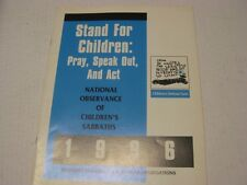 Stand for children : pray, speak out, and act : national observance of children