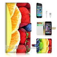 ( For iPhone 7 ) Wallet Case Cover P0531 Fruit