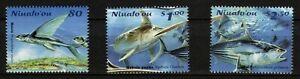NIUAFO'OU, SCOTT # 230-232, SET OF 3 - FLIGHT OF THE FISH, MNH
