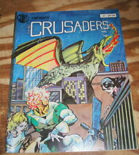 Crusaders #1 near mint 9.4 autographed