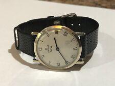Vintage Men's Omega M.W. Dress Watch Solid 14KT White Gold