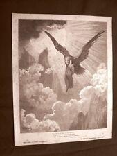 Incisione di Gustave Dorè del 1890 Dante sogna Aquila Divina Commedia Purgatorio