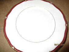 "Wedgwood Empress Ruby Dinner Plates 10 3/4"" 8 in all"
