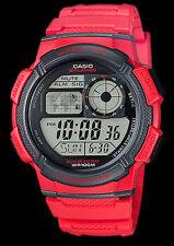 Casio RED aviator watch traveler cronograph g shock montre world time OROLOGIO