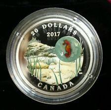 2017 Canada Seahorse Under The Sea 1 Oz Silver Coin