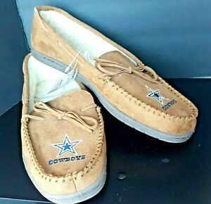 Forever Collectibles NFL Men's Moccasin Slippers Size Large Dallas Cowboys Team