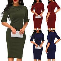 Fashion Womens Office Lady Formal Business Work Party Sheath Tunic Pencil Dress