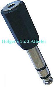 Klinke Adapter Stereo 6,3 Stecker auf 3,5 Buchse Klinkenstecker Klinkenbuchse