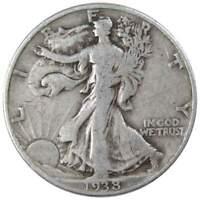1938 Liberty Walking Half Dollar VG Very Good 90% Silver 50c US Coin Collectible
