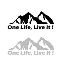 ONE LIFE LIVE IT ! Off Road Mountain Silhouette Car Sticker Window PET Decal 1Pc