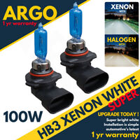 Hb3 100w Xenon Super White High / Main Beam Headlight Bulbs 9005 12v Hid Bright