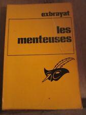 Exbrayat: Les menteuses/ Librairie des Champs-Elysées, Le Masque N°1141, 1970