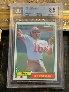 1981 TOPPS JOE MONTANA SAN FRAN 49ERS BGS 8.5 NM-MT+ 216 QB TRADING CARD FG