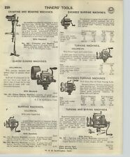 1918 PAPER AD 12 PG Tinners' Tools Turning Burring Machine Shears Brakes Punch