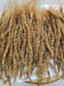 28 handmade dread 100% human hair dreadlocks 1/4 thick 10 to 12'' long