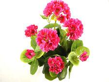 Artificial Silk Pink Geranium flower in Cream Pot ~ Plant Display