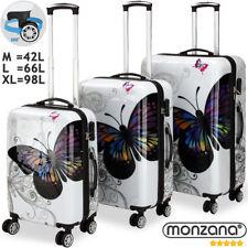 Monzana® Hartschalenkoffer Butterfly Basic Reisekoffer Koffer Set Zwillingsrolle