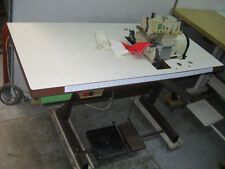 INDUSTRIAL YAMATO 3 THREAD SMALL FREE ARM OVER LOCKER SEWING MACHINE .