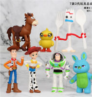7pcs Toy Story 4 Woody Lightyear Rex Alien Bear PVC Action Figure Model Gifts