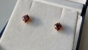 9k Gold Zanzibar (peach/pink) Zircon Stud Earrings