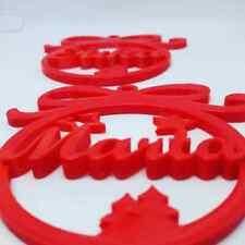 Adorno bola de Navidad, con nombre personalizado en 3D Colores