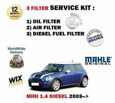 para BMW Mini 1.4d 5/2003-2/2007 Filtro de Aceite Aire Combustible Set (3)