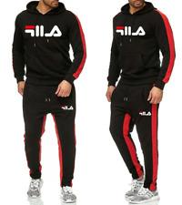 FILA Uomo Pantaloni Da Giacca Tuta Sportiva Fitness Cappuccio Sweatshirt Nuovo