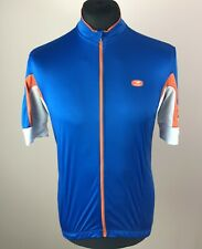 Sugoi EVOLUTION Cycling Jersey Men's Size L Fino Pro Full-Zip Blue Bike Shirt