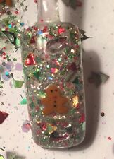 glitter mix acrylic gel nail art  SWEETEST BOY EVER  Christmas Mix  So Cute!!