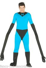 Mens Elastic Man Superhero TV Film Hero Stag Do Fancy Dress Costume Outfit Large