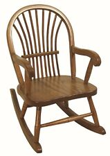 Childs Sheaf Rocking Chair Amish Built Solid Oak Wood Kids Rocker!