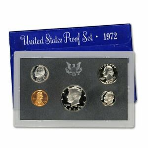 1972 S Proof Set United States Mint Original Government Packaging
