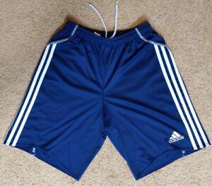 Adidas Clima365 boys Sz XL blue white side stripe athletic shorts Formotion Mint