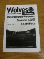 27/04/2000 Wolverhampton Wanderers Reserves v Tranmere Rovers Reserves  (Four Pa