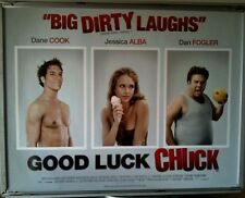 Cinema Poster: GOOD LUCK CHUCK 2007 (Quad) Jessica Alba Dane Cook Dan Fogler
