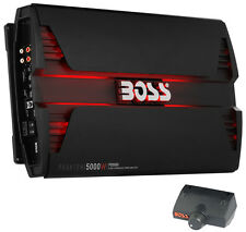 Boss Audio PD5000 5000W Mono D Car Audio Amplifier Power LED Amp with Remote