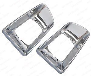 QSC Chrome Head Light Bezel Left & Right Pair for Kenworth T300 T330 97-08