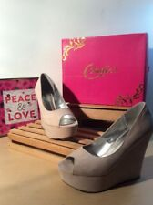 CANDIES (Camalory) Blush Platform OpenToe Wedges-Size 10M PreOwned