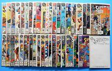 1987 DC COMICS SUPERMAN 2nd SERIES 40 BOOK LOT #1-66 JOHN BYRNE WEDDING ISSUE