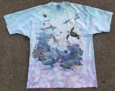 Rare Vintage Liquid Blue 1993 Oceanica T Shirt Size Xl All Over Print